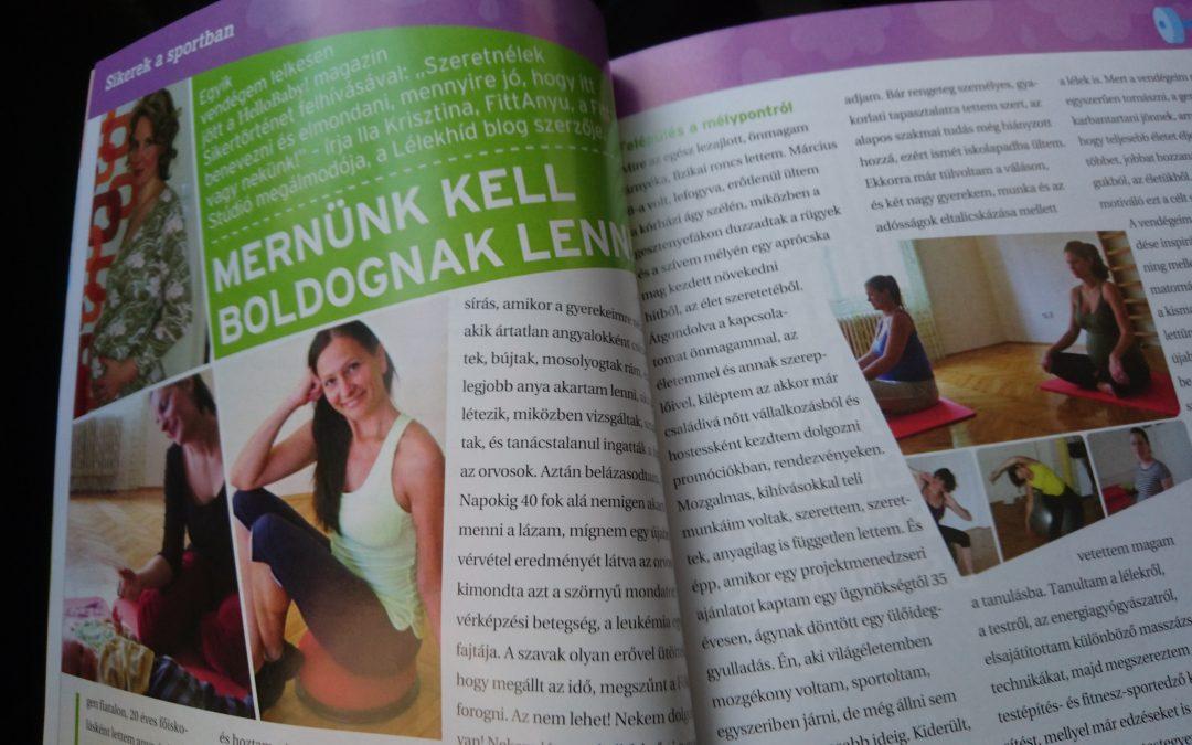 Kriszta a HelloBaby Magazinban
